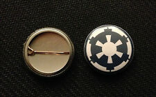 """Star Wars Imperial 1"""" Pinback Button Pin Blue Empire Emblem - Buy 2 Get 1 Free"""