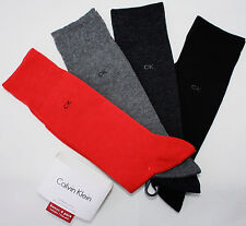 CALVIN KLEIN Dress men's socks 4 pairs red gray black NEW