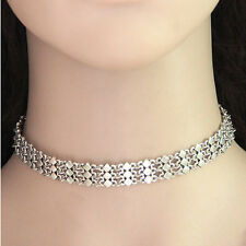 Bohemia Rhombus Choker Collar Necklace Punk Silver Vintage Statement Jewelry