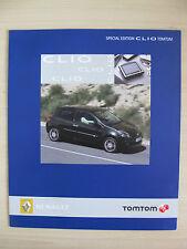 Renault Clio 'TomTom' EDICIÓN ESPECIAL FOLLETO de ventas Reino Unido (2007)