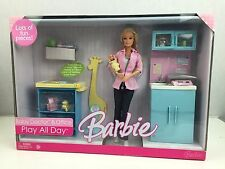 Barbie Play All Day Baby Doctor & Office - includes Barbie doll & baby NEW