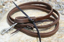 Hand-Made Quality Harness Leather Roping Barrel Racing Reins. Horse Tack