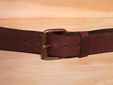 Matt Brass Classic Roller 1 1/2 Inch Leather Jean Belt Waist Size Designer Fit