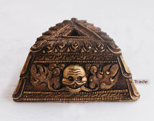 """1.75"""" Hand Crafted Gold Plated Antique Finish Phurba/Phurwa Stand From Nepal"""