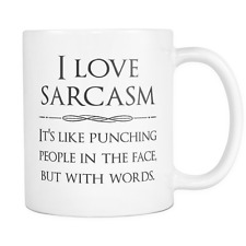 I love sarcasm - Funny Coffee Quotes Custom Mugs, gift ideas, cool gifts, cups