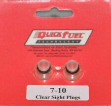 Quick Fuel Holley Carb Carburetor Clear View Sight Plugs Bowl Kit Plug
