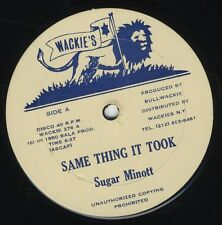 "Sugar Minott ‎/ Jah Batta – Same Thing It Took ORIG USA 12"" NEAR MINT WACKIES"