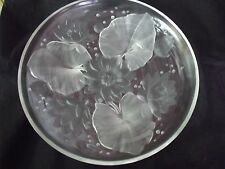 """Vintage Verlys Lily Pad Dish 13.75"""" Diameter Signed"""