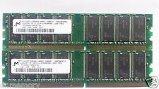 Micron 2gb (2x1gb) DDR 400 pc3200 pc3200u NON-ECC Desktop PC memoria (RAM)