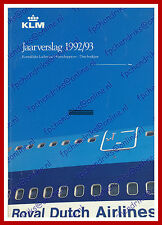 ANNUAL REPORT - KLM ROYAL DUTCH AIRLINES 1992-1993 - DUTCH