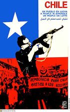 Political Cuban POSTER.ALLENDE Fighting.Chile art.am42.OWS.REvolution Art