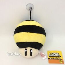 "Super Mario Galaxy 2 Plush Bee Mushroom Power-up Soft Toy Stuffed Animal 5"" NWT"