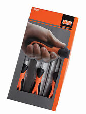 "Bahco 5 Piece 8"" Engineering File Set Bi-Molded Ergo Handle #1-478-08-1-2"