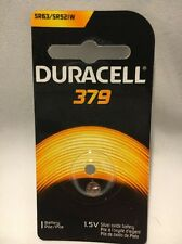 1 NEW DURACELL 379 AG0 D379 LR521 SR521SW S56 SILVER OXIDE BATTERY FREE SHIPPING