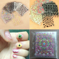 10 Sheets Mixed Mini Flower Decal Sticker 3D Nail Art Care DIY Manicure Tips Kit