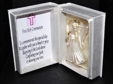 Cellini Gifts First Holy Communion Commemorate Girl with Crystal Angel Keepsake
