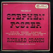 RICHARD CROOKS the songs of stephen foster LP VG+ CAL-124 The Balladeers Mono US