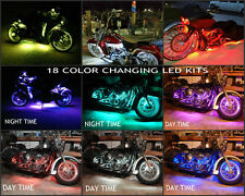 16pc 18 Color Changing Led American Ironhorse Motorcycle Led Strip Lighting  Kit