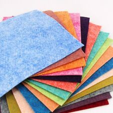 "15 - 6""X12""  Luminous Heathered Collection - Merino Wool blend Felt Sheets"