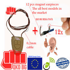 0.2mm neckloop Spy magnetic earphone earpiece with thin cable as hair