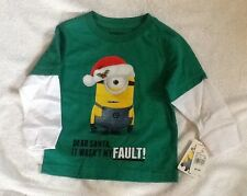 MINIONS Top SHIRT Christmas toddler BABY New 12 months GREEN