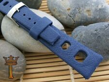 20mm Tropic-Type Divers Rally Strap Blue 1960s New Old Vintage Watch Band