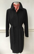 MAX MARA Black Single Breasted Matte Trench Coat  UK14 IT46