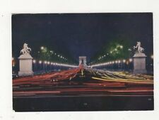 Paris Avenue des Champs Elysees La Nuit Postcard France 559a