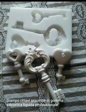 Stampo 3 chiavi  in gomma siliconica per gessetti bomboniera segnaposto