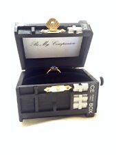 Tardis Ring Box With Light.Proposal Ring Box Dr Who Black TARDIS Engagement Box