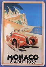 Lamiera SCUDO Monaco corsa auto 1937 AUTO DA CORSA AUTO MOTO TARGA PUBBLICITARIA SCUDO