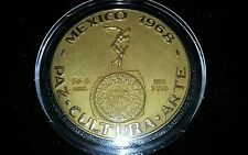 1968 XIX Olympic Games Mexico GOLD Commemorative Medal 2.33 troy ounce 1.81 AGW
