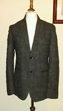 JOHN VARVATOS DISTRESSED SPORT COAT Grey Size uk 38 eu 48 Made in italy