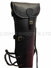 Thick Rigid Leather Scoped Rifle Case Fleece Lined by John Shooter