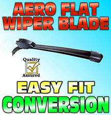 Aero Flat Wiper Blade Rear Hook Fitting Modern Flat Design 15""