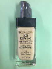 Revlon Age Defying All Day Lifting Foundation #01 IVORY BEIGE // SPF 20 // New.