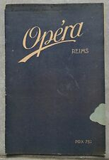Programme CINEMA OPERA Reims QUAND LA CHAIR SUCCOMBE Emil Jannings 1928