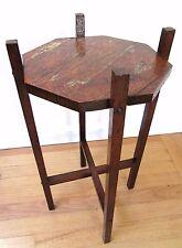 ANTIQUE STICKLEY ERA OAK SIDE TABLE TABORET STAND MISSION ARTS CRAFTS PRIMITIVE