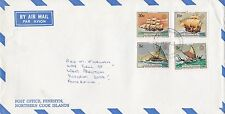 BD195) Penrhyn OHMS Air mail cover bearing: Sailing. Price: $6
