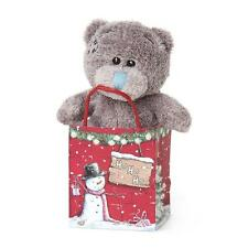 "Me to You Tatty Teddy Ho Ho Bear In Winter Christmas Gift Bag 3"" New G01W4192"