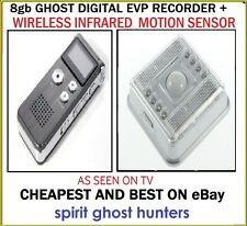 GHOST HUNTING IR ALARM MOTION SENSOR + 8GB EVP SPIRITS PARANORMAL RECORDER