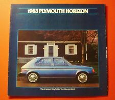 1983 PLYMOUTH HORIZON SHOWROOM SALE BROCHURE ..10 - PAGES