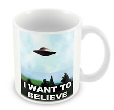 I WANT TO BELIEVE Mug - X Files TV Gift Idea Aliens extraterrestrial UFO #97