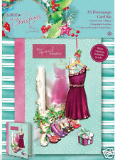 Docrafts Papermania A5 Decoupage Card Kit At Christmas Xmas DAUGHTER SISTER ETC
