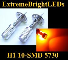 TWO Orange AMBER H1 10-SMD 5730 LED Driving or Fog Lights bulbs