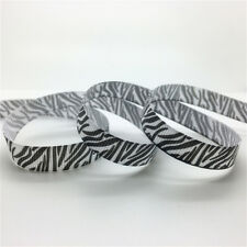 "New 5 Yards 3/8""(10mm) Wide Printed Grosgrain Ribbon Hair Bow DIY Sewing #GD16"