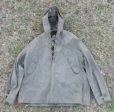 Vintage Korean War/WWII era USN/Army Wet Weather Parka LARGE Hooded Pullover