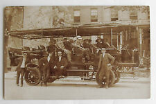 ANTIQUE REAL PHOTO POSTCARD-TOUR COACH-TORONTO CANADA-AUGUST 3, 1912