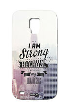CUSTODIA COVER CASE FRASE FORTE I AM STRONG PER SAMSUNG GALAXY S5 G900