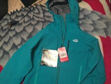 New North Face Womans ZERO GULLY jacket Kokomo green Woman's Sz L  Gore Tex PRO